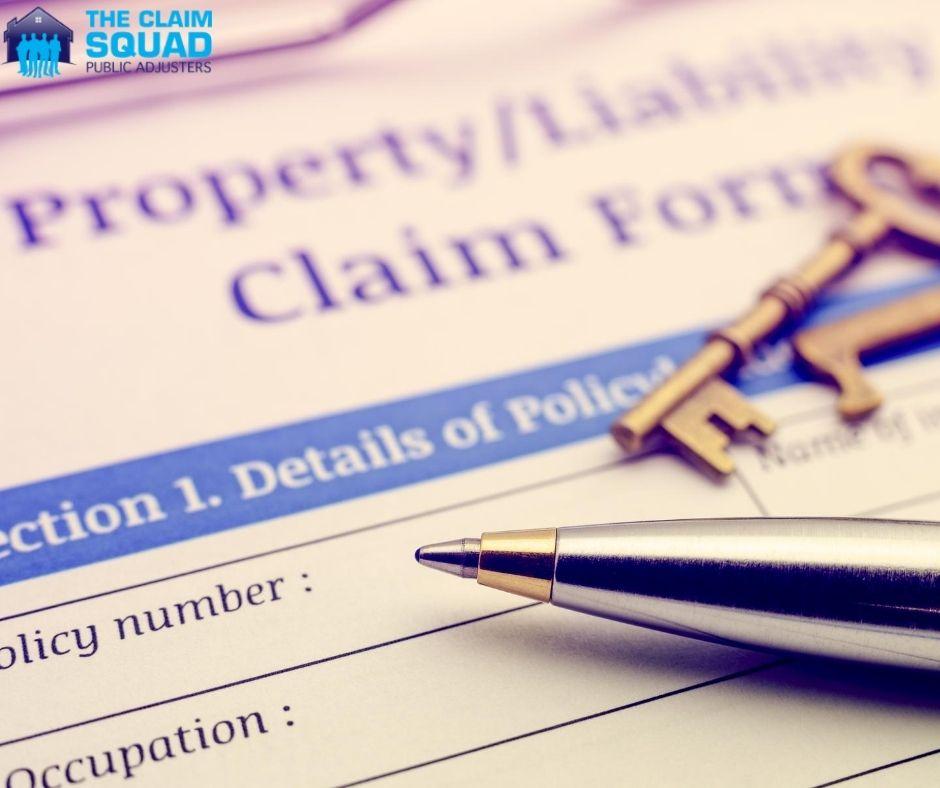 Property Liability claim form