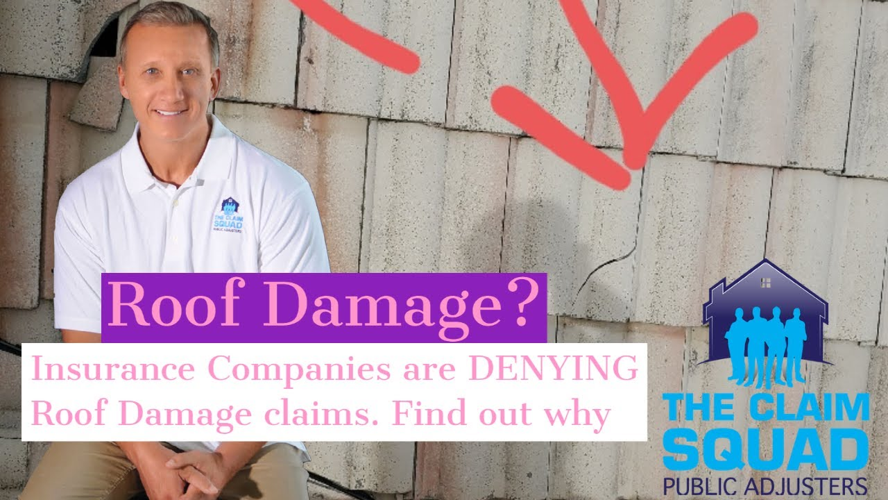 Roof Damage? Insurance companies are DENYING roof damage claims. Find out why. The Claim Squad Public Adjusters