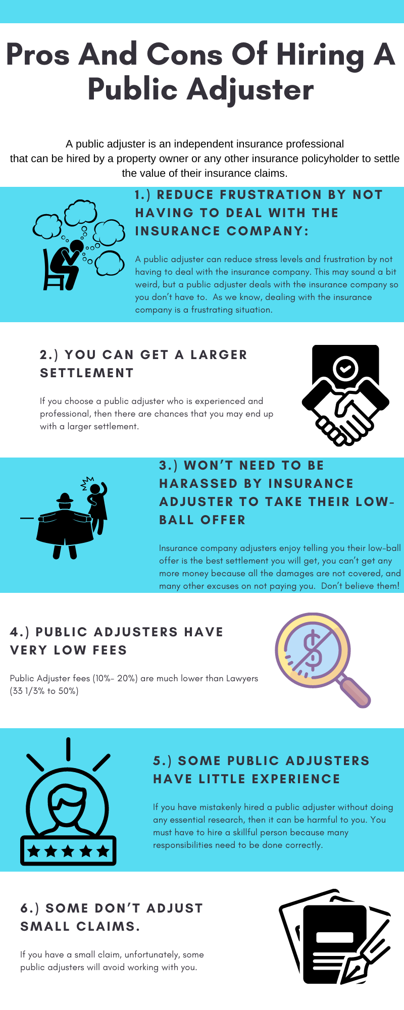 Pros And Cons Of Hiring A Public Adjuster