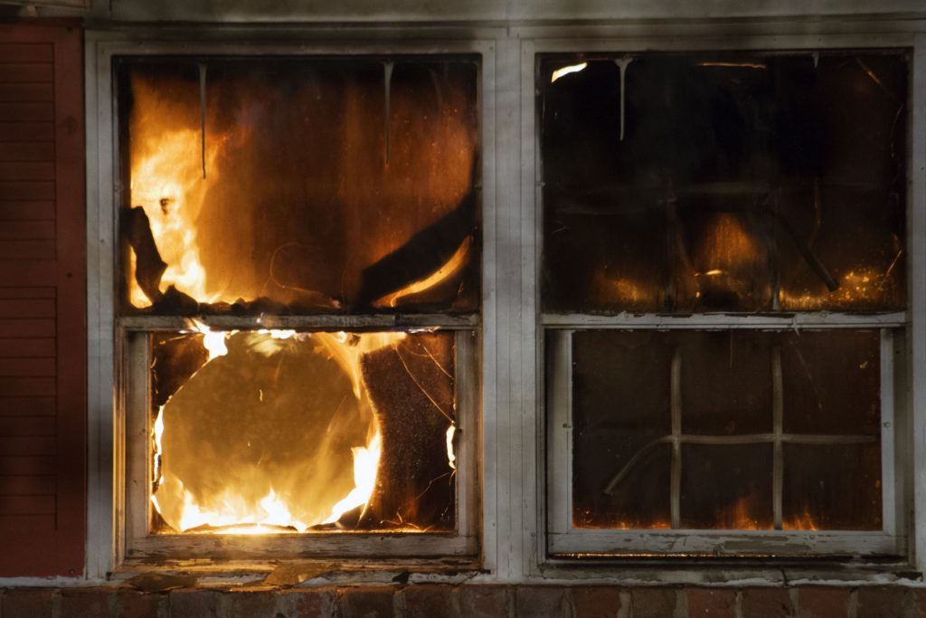 House Windows with flames