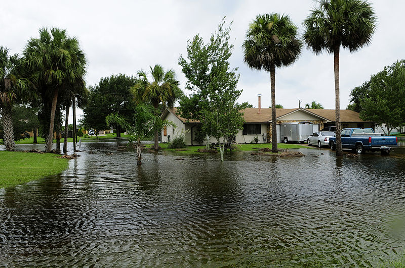 flooded neighborhood in florida